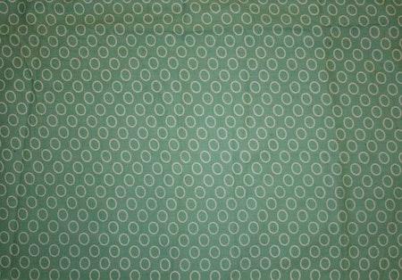 Tyg Gröngrå Cirklar