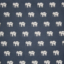 Tyg Blå elefanter vaxduk Solskärm / bältesmuddar