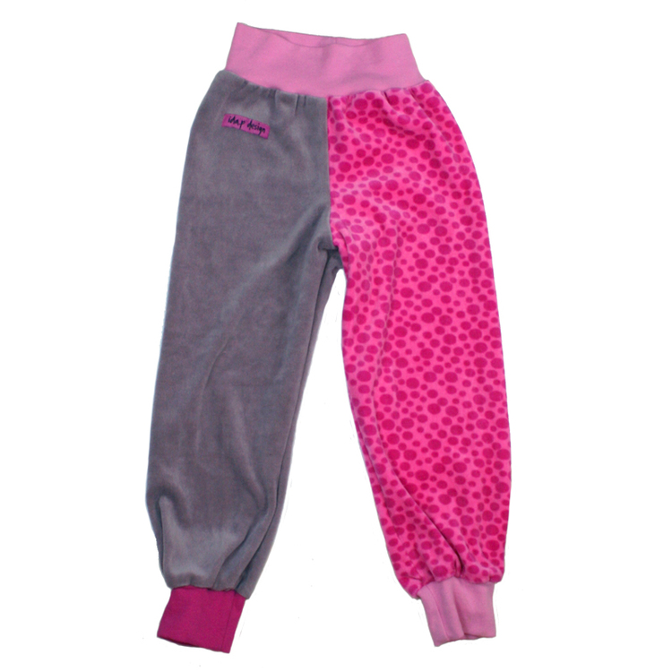 Barnbyxor i rosa och smutsrosa
