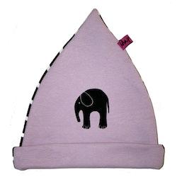Mössa med elefant RosaLila/Brun