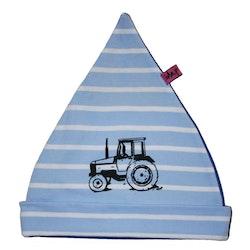 Mössa med traktor Blå