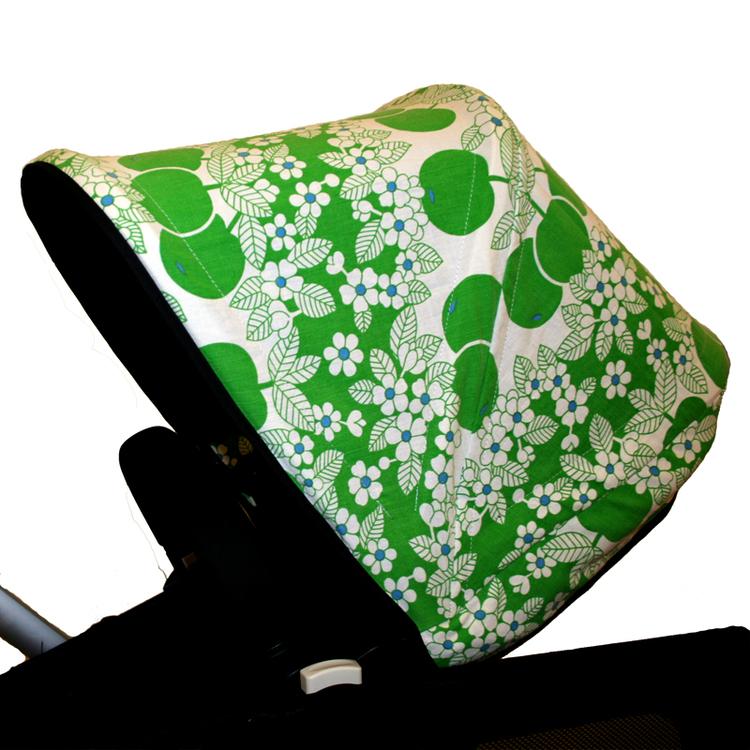 Tyg Gröna äppel Retro Solskydd Barnvagn