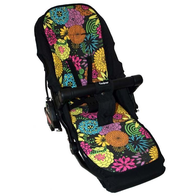 Blommig emmaljunga superviking barnvagnsdyna sittdyna