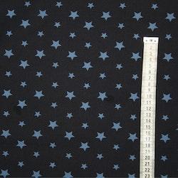 Tyg Marinblå med blå stjärnor Solskydd barnavgn