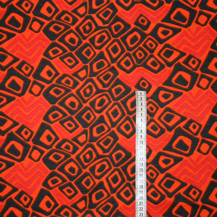 Tyg orange Retro