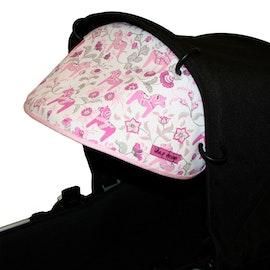 Solskydd för barnvagn Leksand Mini Rosa solskärm