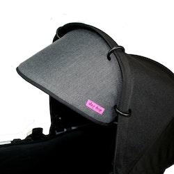 Solskydd barnvagn Mörk grå