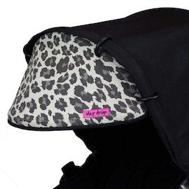 Solskydd för barnvagn Ljus leopardmönstrad