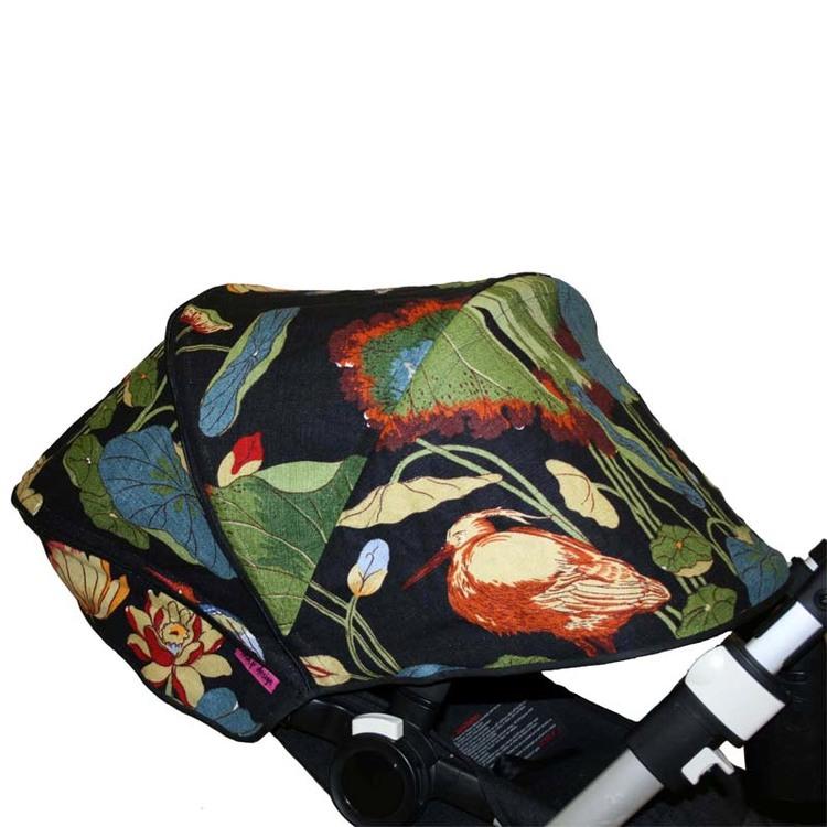 NYMPHEUS TEAL/GREEN G P & J Baker Solskydd barnvagn