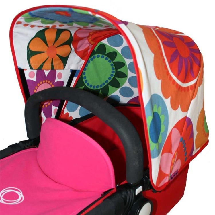 Tyg turkos Flower Power IKEA tyg Sittdyna barnvagn
