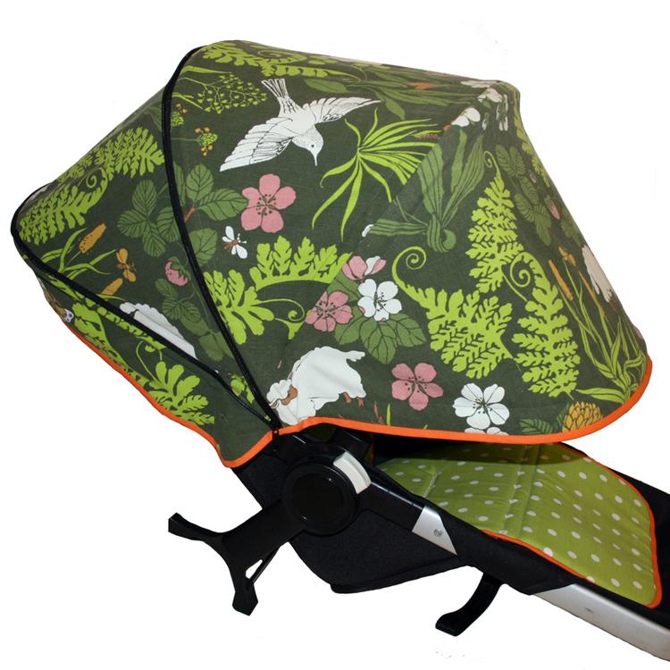 Tyg Retro Får Solskydd barnvagn