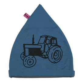 Mössa barn med stor traktor Volvo Blå EKO