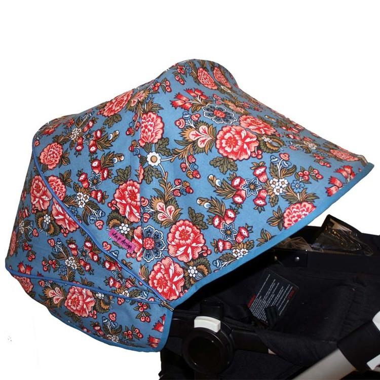 Tyg Blå allmoge Solskärm barnvagn