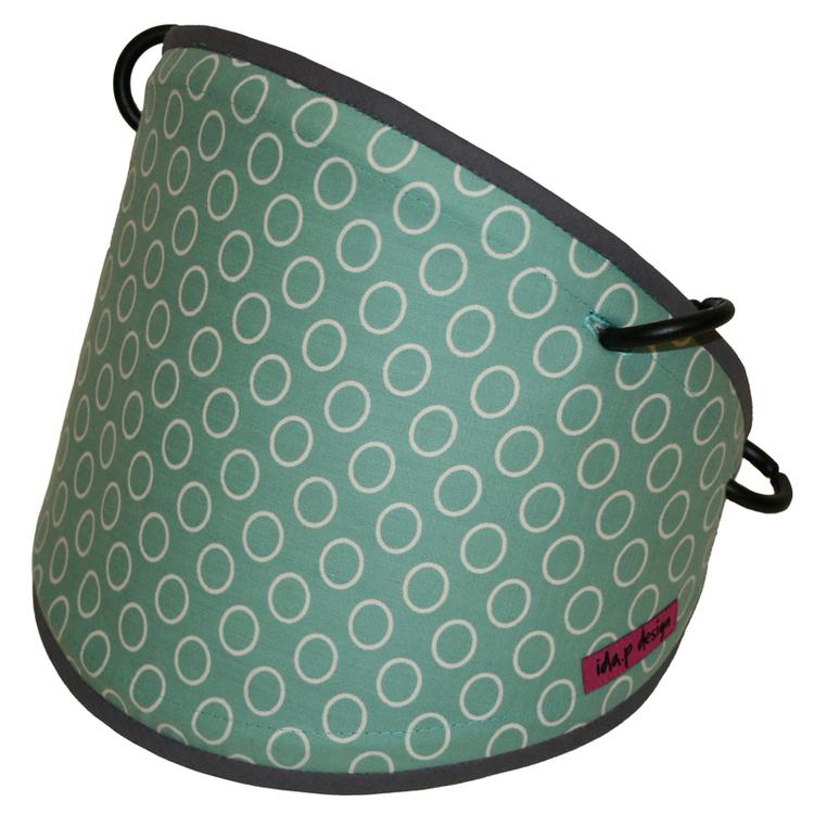 Tyg Gröngrå Cirklar Solskydd barnvagn
