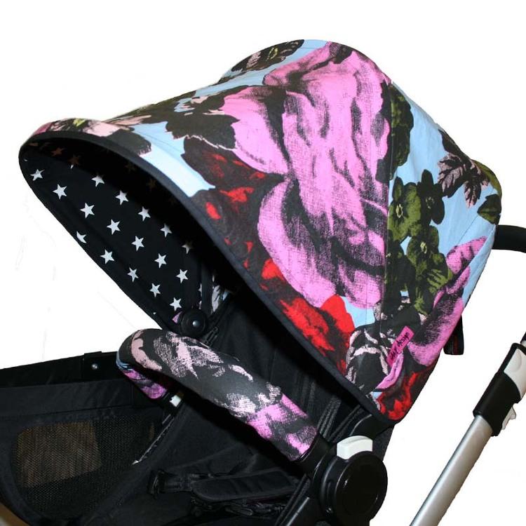 Vaxduk Rosor från Mairo Solskydd barnvagn