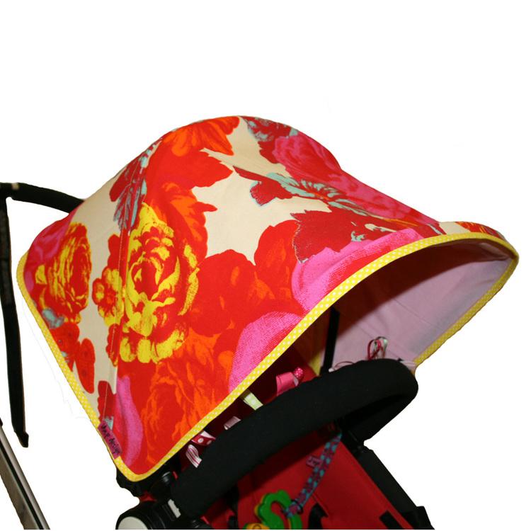 Vaxduk Rosor Orange från Mairo Solskydd barnvagn