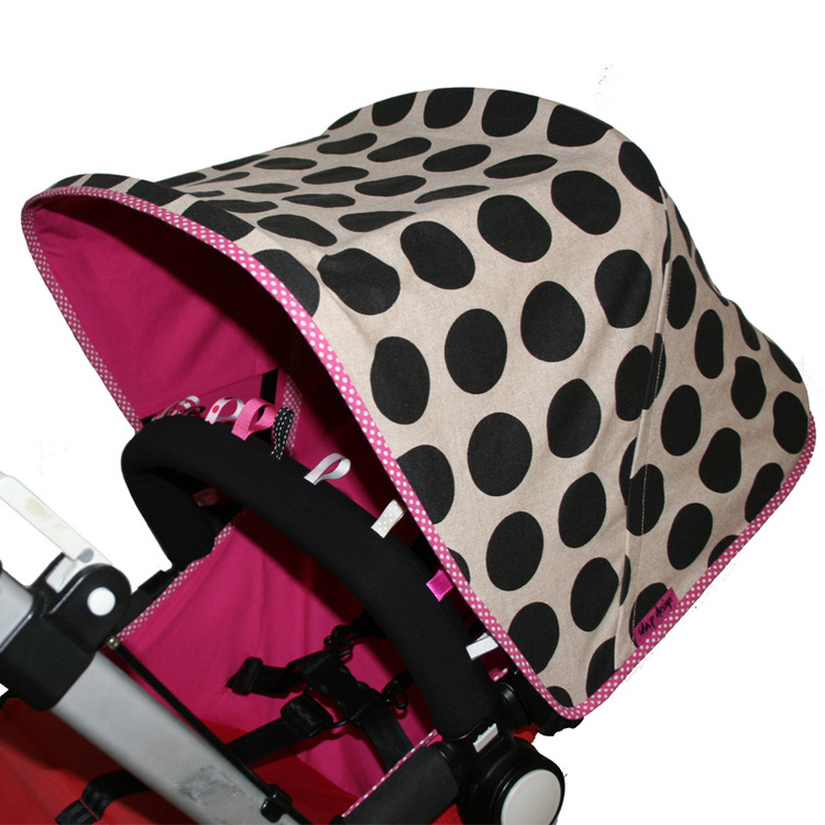 Vaxduk beige sandfärgad Solskydd barnvagn