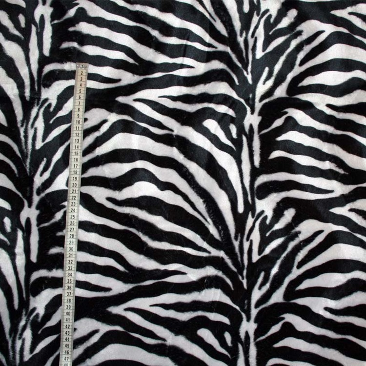 Zebramönstrat tyg i svart vitt