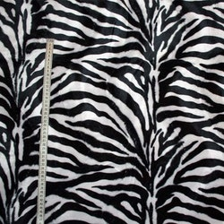 Zebra-mönstrat Gråvit/svart tyg