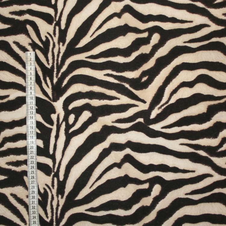 Tyg zebramönstrat svart beige och brunt
