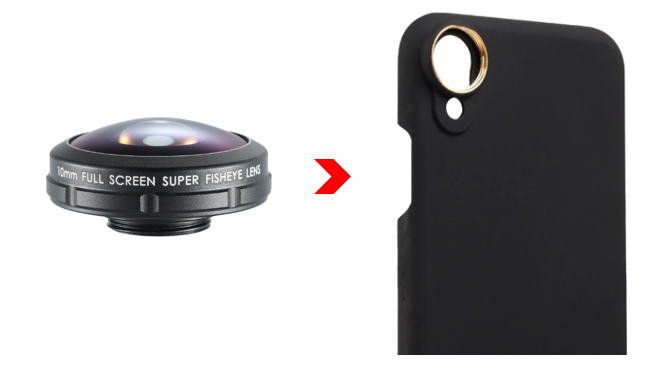 FISHEYE LENS STANDARD SERIES 10MM + PHONE CASE