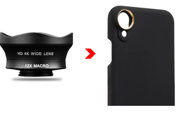 WIDE ANGLE (+12X MACRO) STANDARD SERIES 16MM + PHONE CASE