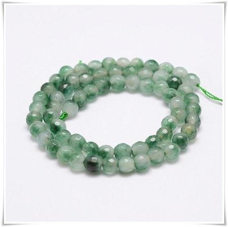 Jade facetterad 6 mm