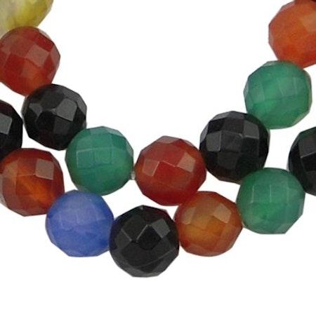 Färgad agat 8 mm