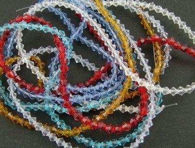 Facetterade biconer 6 mm i flera färger 10-pack
