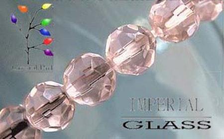 Facetterade glaspärlor i flera färger 6 mm