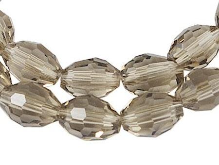Facetterade ovala glaspärlor i flera färger 6 mm 10-pack