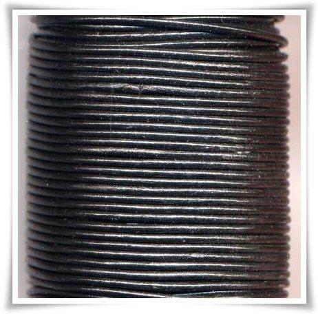 Läder svart 2 mm