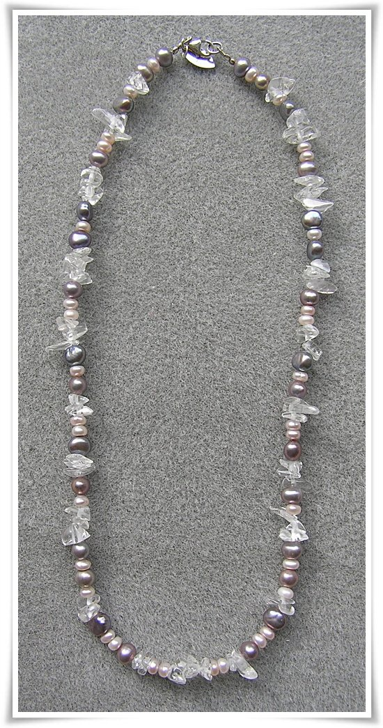 Halsband med sötvattenspärlor (033)