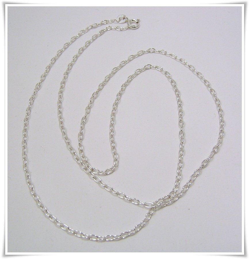 Ankarkedja rund sterling silver 60 cm