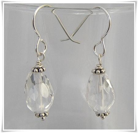 Örhänge med bergkristall (335)