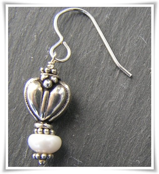 Örhänge sterling silver med sötvattenspärlor (367)
