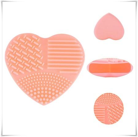 Silikonhjärta för rengöring av makeup borstar