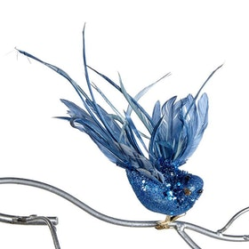 BEAD.FLY BIRD ON CLIP BLU 20CM. 12 pack