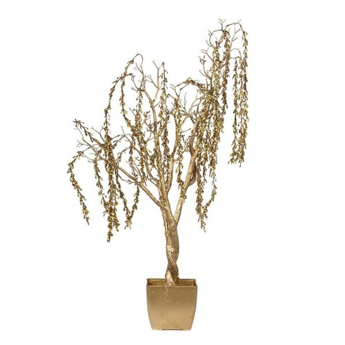 TREE IN POT TT GLD 122CM