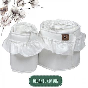 Spjälskydd bedside crib volang   Organic Basic