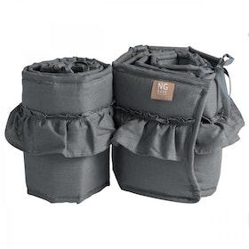 Spjälskydd bedside crib volang | Graphite grey | Mood ruffles