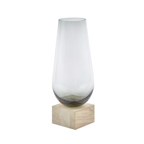 Elia - Vase Natur, grå 18x18x43cm Glass