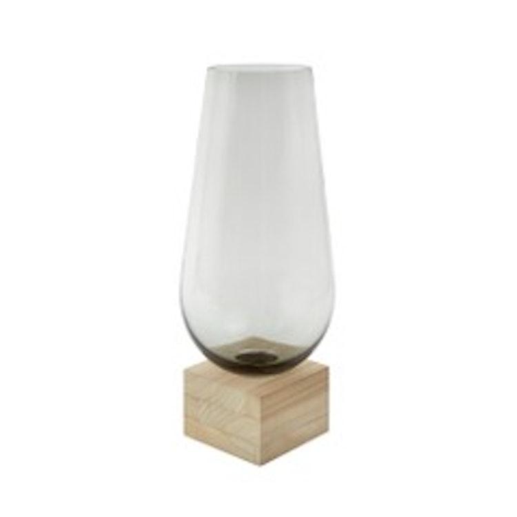 Elia - Vase Natur, grå 24x24x58cm Glass