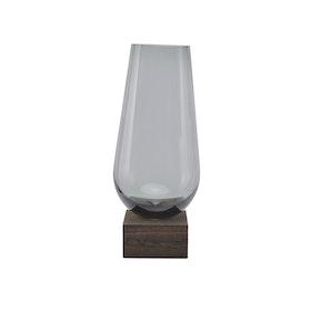 Elia - Vase Grå 18x18x43cm Glass