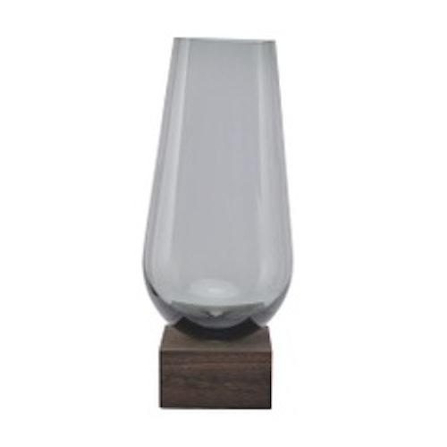 Elia - Vase Grå 24x24x58cm Glass