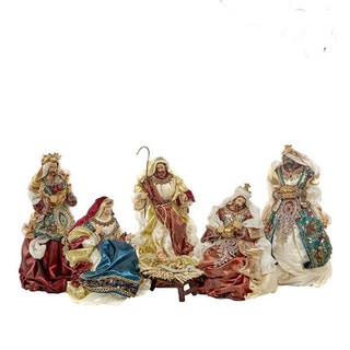 HOLY FAMILY- BRWN/CRM/BLU/BURG 38CM