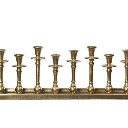 Ljusbricka Antik Guld.  Alu.70x12x20cm