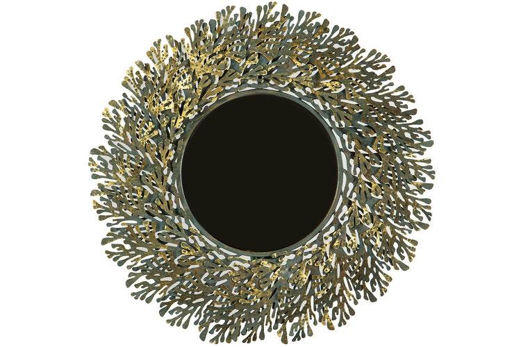 Spegel Blad Patina Guld 80x6,5x80cm