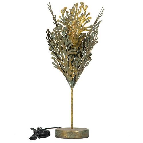 Lampa Blad Patina Guld 29x58cm 2st