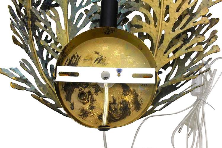 Vägglampa Blad Patina Guld 37x11x44cm. 2st